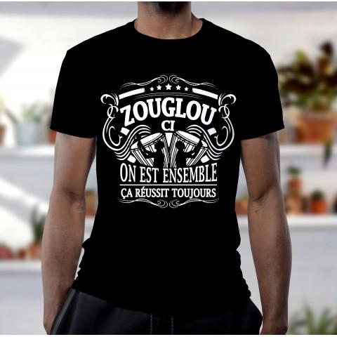T-shirt zouglou 100% coton noir blanc