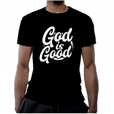 T-SHIRT GOD IS GOOD NOIR