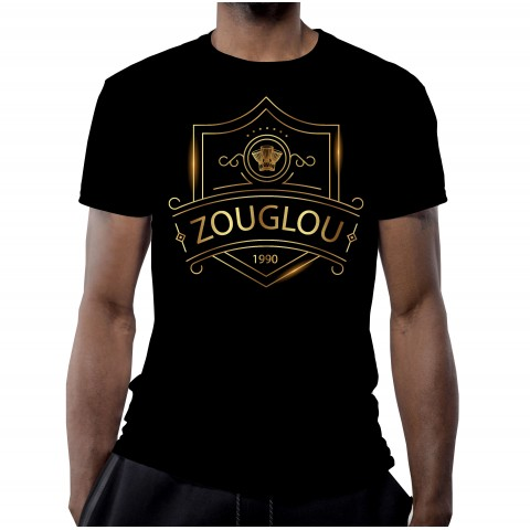 T-SHIRT 100% ZOUGLOU LUXURY NOIR